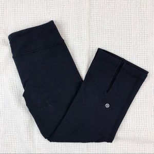 LULULEMON Gather & Crow Crop Leggings Black Size 8
